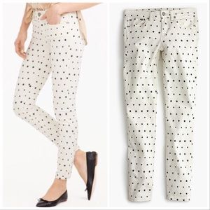 "J.Crew | 8"" Toothpick Jean in Mini Star Print"